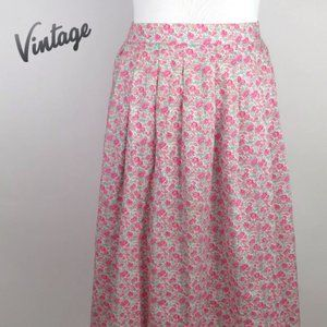 Vintage Liberty Art Fabrics Midi Skirt Size 14